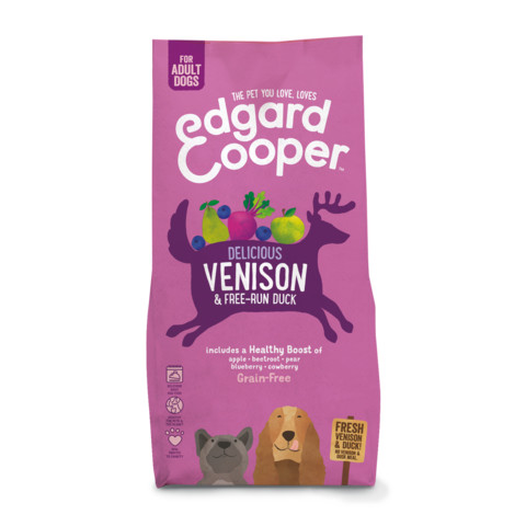 (s)edgard & Cooper Adult Grain Free Dry Dog Food With Fresh Venison & Free-run Duck 7kg
