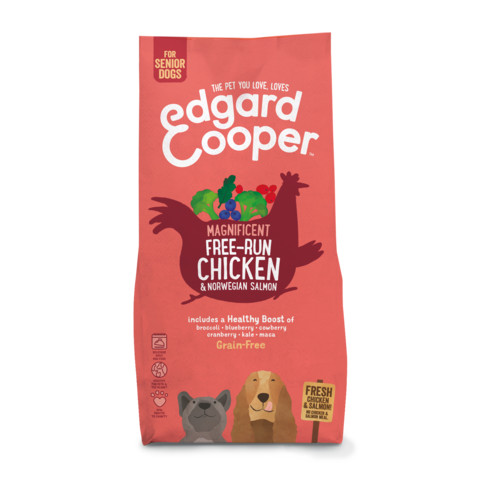 Edgard & Cooper Grain Free Dry Senior Dog Food With Fresh Free-run Chicken & Norwegian Salmon 7kg