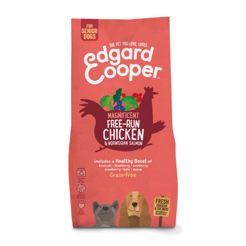 Edgard & Cooper Grain Free Dry Senior Dog Food With Fresh Free-run Chicken & Norwegian Salmon 12kg