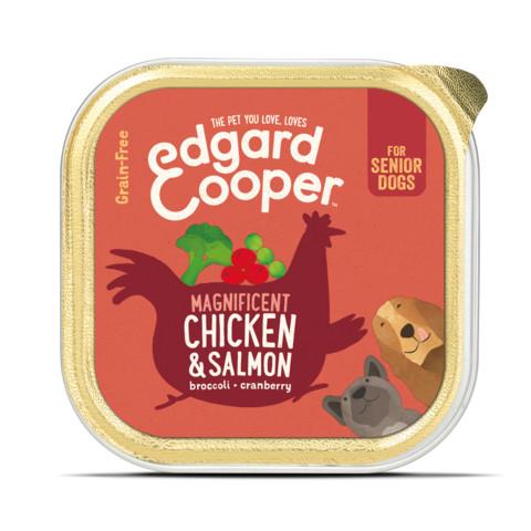 Edgard & Cooper Senior Grain Free Wet Dog Food With Chicken & Salmon 11 X 150g
