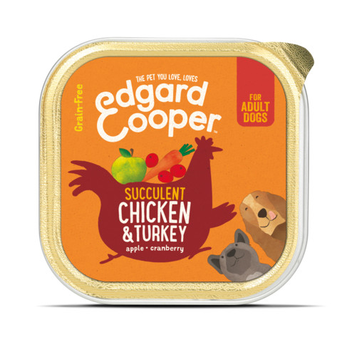 Edgard & Cooper Adult Grain Free Wet Dog Food With Chicken & Turkey 11 X 150g