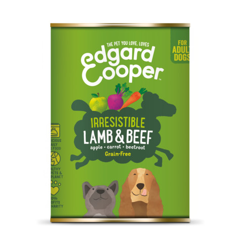 Edgard & Cooper Adult Grain Free Wet Dog Food With Lamb & Beef 6 X 400g