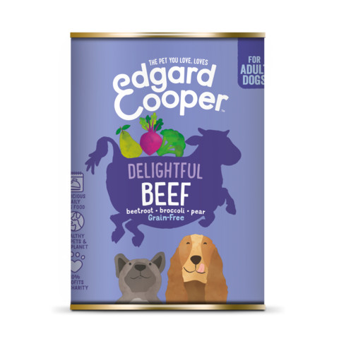 Edgard & Cooper Adult Grain Free Wet Dog Food With Beef 6 X 400g