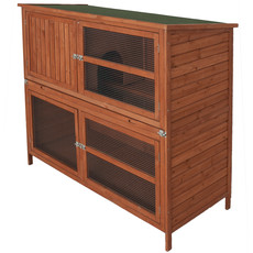Bunny & Fizz Orchard Double Guinea Pig & Rabbit Hutch 5x4x2ft