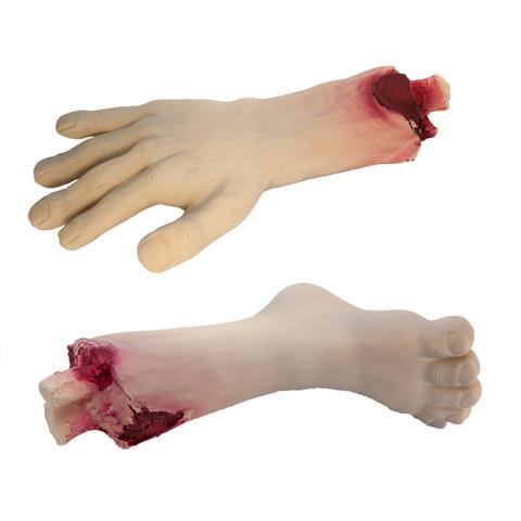 Zombie Halloween Limb Latex Squeaky Dog Toy