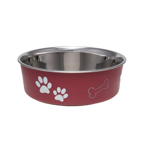 Loving Pets Bella Bowls Classic Merlot Red Large