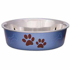 Loving Pets Bella Bowls Metallic Blueberry Medium