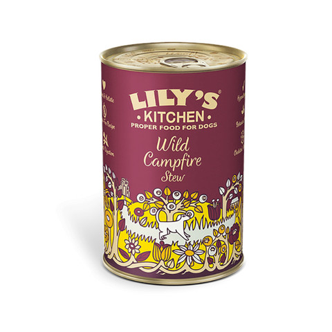 Lilys Kitchen Wild Campfire Stew Grain Free Wet Dog Food 6 X 400g