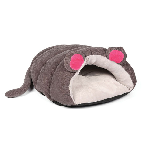 Happy Pet Muffin Mouse Grey Cosy Cat Bed