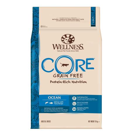 Wellness Core Ocean Fish Salmon And Tuna Grain Free Dry Adult Cat Food 10kg