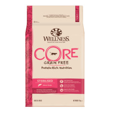 Wellness Core Sterilised Salmon Grain Free Dry Adult Cat Food 10kg