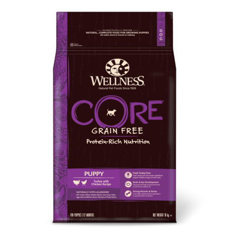 Wellness Core Puppy Chicken And Turkey Grain Free Dry Dog Food 10kg