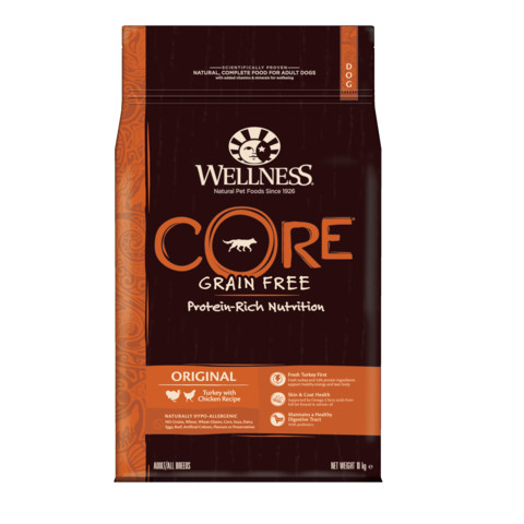 Wellness Core Original Turkey And Chicken Grain Free Adult Dry Dog Food 10kg