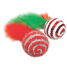 Happy Pet Candy Ball Feathered Christmas Cat Toy