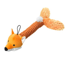 House Of Paws Christmas Sparkle Fox Thrower Dog Toy