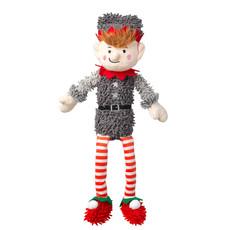 House Of Paws Silent Night Squeak Free Fuzzy Elf Christmas Dog Toy