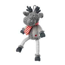 House Of Paws Silent Night Squeaker Free Reindeer Christmas Dog Toy