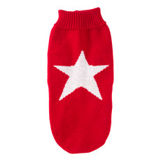House Of Paws Red Star Christmas Jumper For Dogs 16