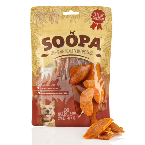 Soopa 100% Natural Sweet Potato Vegetable Dog Chews 100g