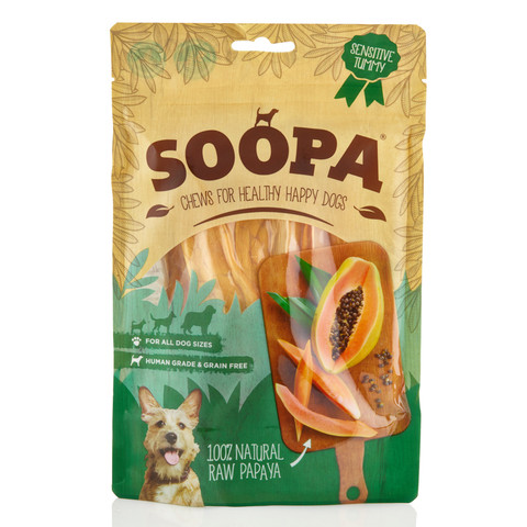 Soopa 100% Natural Papaya Fruit Dog Chews 100g