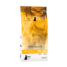 Devoted Free Run Chicken Grain Free Adult Cat Food 300g