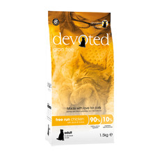 Devoted Free Run Chicken Grain Free Adult Cat Food 1.5kg