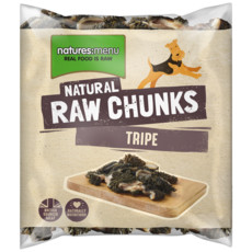Natures Menu Frozen Raw Tripe Chunks For Dogs 1kg