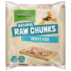 Natures Menu Frozen Raw Fish Fillet Chunks For Dogs 1kg