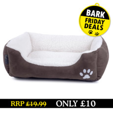 (d) Sams Luxury Brown & Cream Pet Bed - Black Friday Deal - While Stocks Last Small