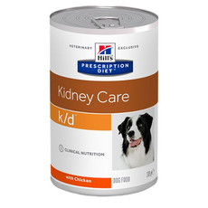 Hills Prescription Diet K/d Canine Kidney Care Chicken Wet Tins 12x370g