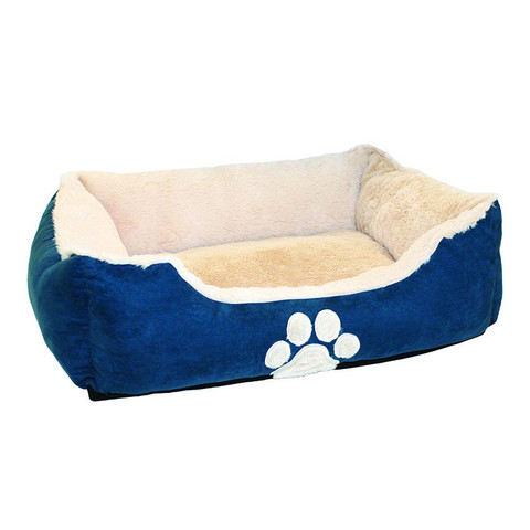 Happy Pet Hugs Square Teal Pet Bed
