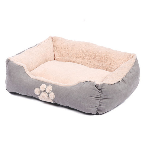 Happy Pet Hugs Square Dove Grey Pet Bed
