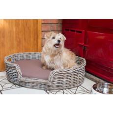 House Of Paws Rattan Kubu Dog Basket Bed Medium
