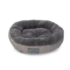 House Of Paws Grey Hessian Pet Bed