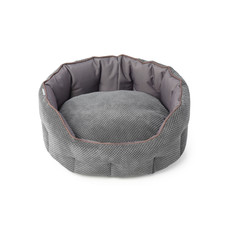House Of Paws Cord & Water Resistant Oval Snuggle Pet Bed Medium