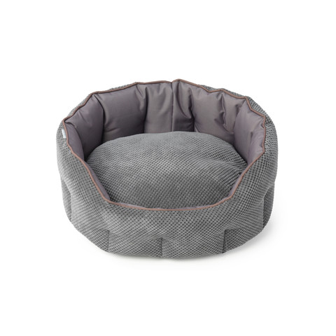 House Of Paws Cord & Water Resistant Oval Snuggle Pet Bed X Large