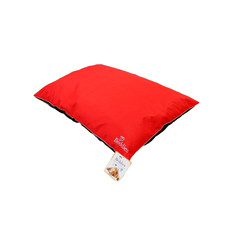 Beddies Waterproof Cushion Dog Bed In Red And Grey M/l