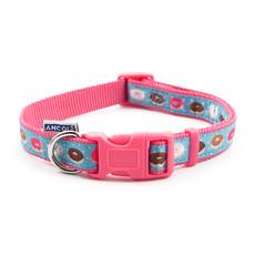 (d) Ancol Indulgence Fashion Pink Donut Adjustable Dog Collar Large