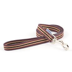 Ancol Cotton Stripe Damson Dog Lead 1m X 19mm