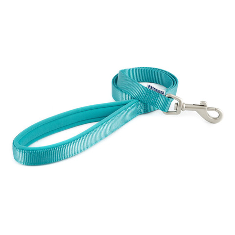Ancol Heritage Padded Nylon Cushion Teal Dog Lead 1m X 19mm