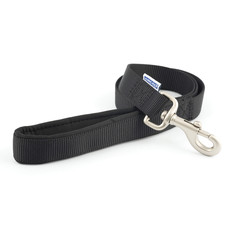 Ancol Heritage Padded Nylon Cushion Black Dog Lead 1m X 25mm