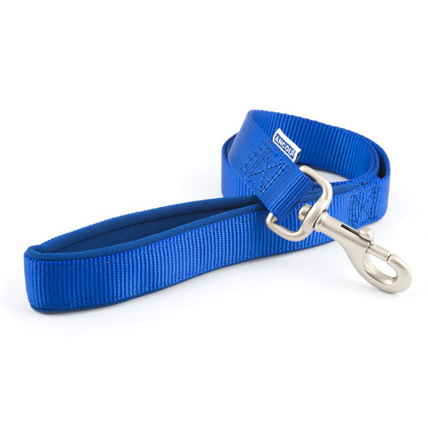 Ancol Heritage Padded Nylon Cushion Blue Dog Lead 1m X 25mm