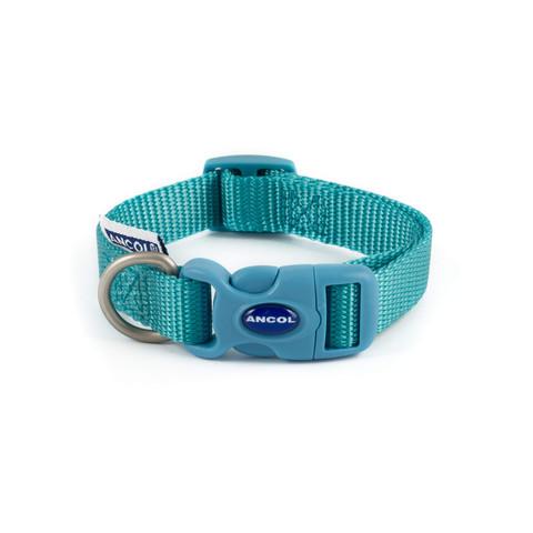 Ancol Heritage Nylon Teal Adjustable Dog Collar Small
