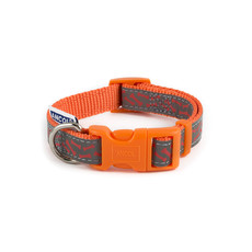 (d) Ancol Indulgence Fashion Orange Bone Adjustable Dog Collar Small