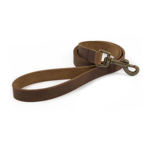 Ancol Heritage Latigo Chestnut Leather Dog Lead 1.3m