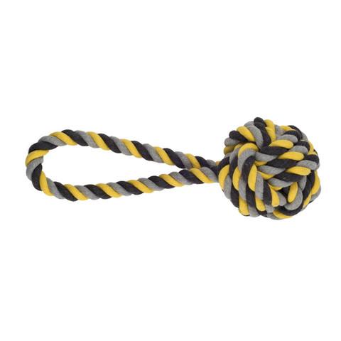 Ancol Jumbo Jaws Ball Tugger Dog Toy 36cm