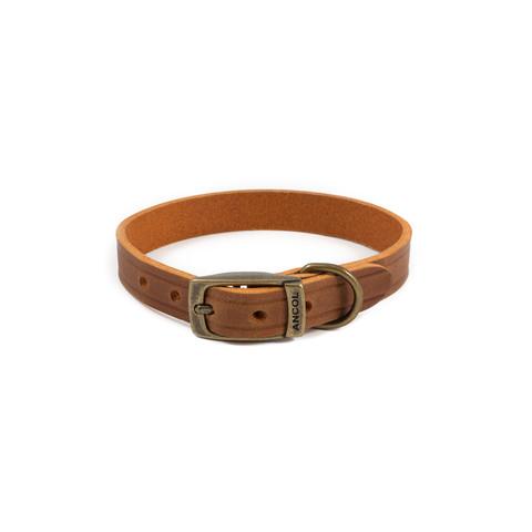 Ancol Heritage Latigo Chestnut Leather Dog Collar Small