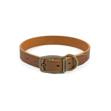 Ancol Heritage Latigo Chestnut Leather Dog Collar Medium