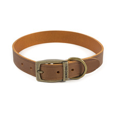Ancol Heritage Latigo Chestnut Leather Dog Collar Large
