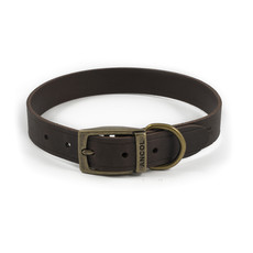 Ancol Heritage Latigo Havana Leather Dog Collar Large